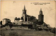 Le Crozet pres La Pacaudiere - L'Eglise et la Madone - Le Crozet