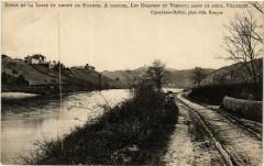 Bords de la Loire en Amont de Roanne. A gauche Les Granges et .. 42 Roanne