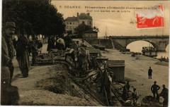 5 Roanne Prisonniers allemands charriant le sable sur les bords 42 Roanne