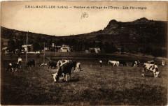 Chalmazelles - Rocher et village de l'Olme - Les Paturages 42 Roche