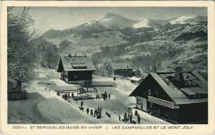 Saint-Gervais-les-Bains en Hiver - Les Camplunes et la Mont Joly - Saint-Gervais
