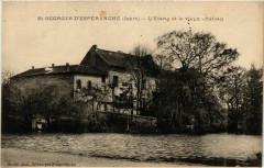 Saint-Georges-d'Esperanche - L'Etang et le Vieux Chateau France - Saint-Georges-d'Espéranche