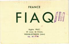 France F I A Q - Eugene Prat 40 route de Chasse Vienne-Estressin 38 Vienne