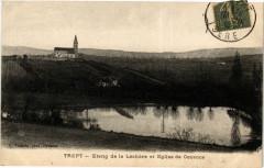 Trept - Etang de la Lechore et Eglise de Cozance - Trept