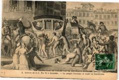 Arrivée de S.S. Pie Vi a Grenoble - Le Peuple l'acclame et recoit. 38 Grenoble