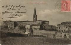 Upie L'Eglise et Vue generale France - Upie