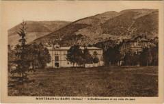 Montbrun les Bains L'Etablissement et un coin du parc France - Montbrun-les-Bains