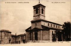 La Drome Illustrée - Suze-la-Rousse - L'Eglise et la Place - Suze-la-Rousse