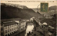 Saint-Rambert-en-Bugey Le Quai des Cités et l'Usine de Chappe - Saint-Rambert-en-Bugey