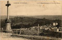 Chambonas - Chambonnas et la Croix de la Mission - Chambonas