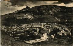 Saint-Péray - Vue générale - Au fond le Chatéau de Crussol - Saint-Péray
