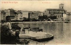 La Ciotat - Le Quai du Port et l'Eglise - La Ciotat