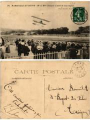 30 Marseille Aviation Mr. et Mme Cheuret a bord de leur biplan 13 Marseille