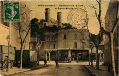 Chateaurenard - Bd de la Gare et Statue Mascia - Châteaurenard