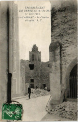 Tremblement de terre - Saint-CANNAT, Le clocher decapite - Saint-Cannat