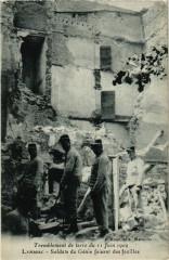 Tremblement Terre - Lambesc Soldats du Genie faisant des fouilles - Lambesc
