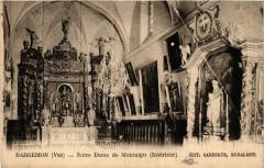Bargemon - Notre Dame de Montaigu - Intérieur - Bargemon