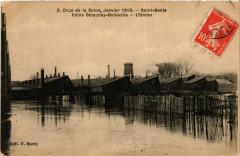 Crue de la Seine,Janvier 1910-Saint-Denis -Usine Delaunay-Bellevill 93 Saint-Denis