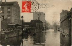 Crue de la Seine-Saint-Denis -Rue Brise Echalas -Le 28 Janv. 1910 93 Saint-Denis