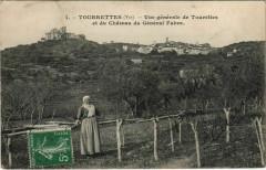 Tourrettes Vue Generale et du Chateau du General Fabre - Tourrettes