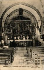 Seillans Intérieur de la Chapelle de Notre Dame de l'Ormeau - Seillans