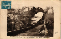 Villecroze La Voie Romaine-Vue sur le Pont Vieux - Villecroze