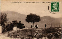 Falicon - Env. de Nice - Place Bellevue - Falicon