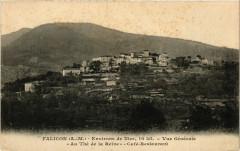 Falicon - Vue générale - Au Thé de la Reine - Café-Restaurant - Falicon