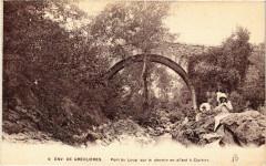 Greolieres - Env. - Pont du Loup sur le chemin - Gréolières