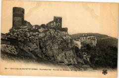 Env. de Saint-Etienne-Rochetaillee-Ruines du Chateau et l'Eglise 42 Roche