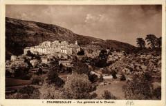 Coursegoules - Vue générale et le Cheiron - Coursegoules