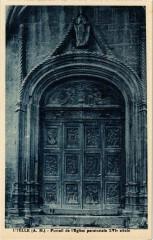 Utelle- Portail de l'Eglise paroissiale XVIe siecle France - Utelle