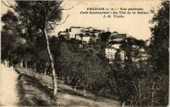 Falicon vue generale. Café-Restaurant Au The de la Reine - Falicon