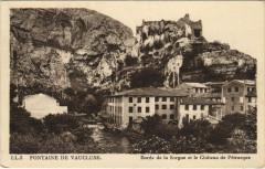 Fontaine-de-Vaucluse Bords de la Sorgue - Chateau de Petrarque - Fontaine-de-Vaucluse