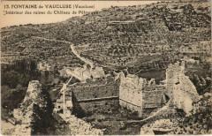 Fontaine-de-Vaucluse Interieur des Ruines du Chateau de Petrarque - Fontaine-de-Vaucluse