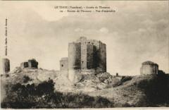 Le Thor Grotte de Thouzon - Ruines de Thouzon - Vue d'Ensemble - Le Thor
