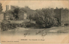 Sorgues Vue d'Ensemble et la Sorgue - Sorgues