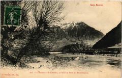 La Durance a St-Clement, au fond le Fort de Mont-Dauphin - Mont-Dauphin
