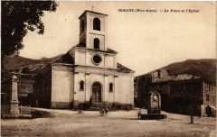 Rosans - La Place et l'Eglise - Rosans
