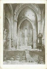 Forcalquier Interieur de Notre-Dame du Bourguet - Forcalquier