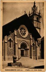 Barcelonnette L'Eglise et le vieux clocher - Barcelonnette