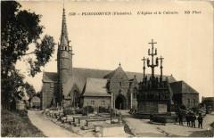 Plougonven - L'Eglise et le Calvaire - Plougonven