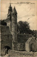 Henvic (Finistere) - L'Eglise et la vieille Tour du Xv siécle - Henvic