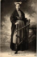 Costumes Bretons Pays-du-Leon - Jeune fille de Pleyber-Christ St- - Pleyber-Christ