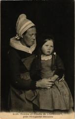 Femme et Fillette de Loperhet pres Plougastel-Daoulas - Loperhet
