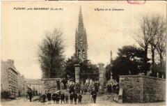 Plouisy - pres Guingamp - Eglise et le Cimetiere - Plouisy