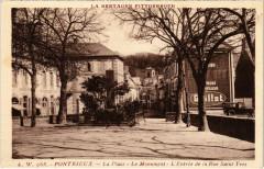 Pontrieux - La Place - Le monument - L'Entrée de la Rue St-Yves - Pontrieux