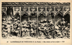 Cathedrale de Treguier - Bas reliefs en bois 22 Tréguier