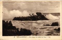 Ile de Brehat - Gros temps au rocher du Paon 22 Île-de-Bréhat