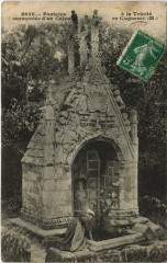 Fontaine a la Trinite aurmontée d'un Calvaire en Cleguerec - Cléguérec